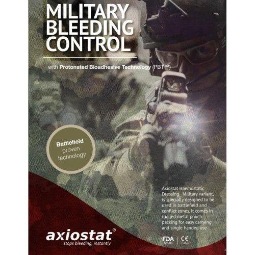 Στρατιωτικό Αιμοστατικό Επίθεμα Axiostat Military Hemostatic Dressing 8x8cm