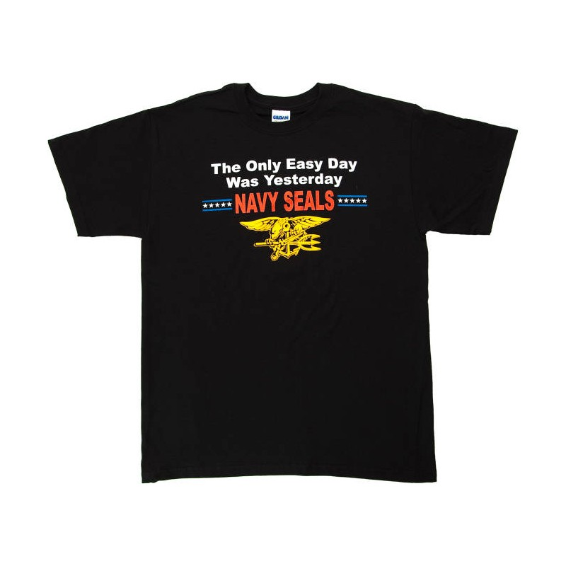 US Navy SEALs T-Shirt 'Easy Day' Black