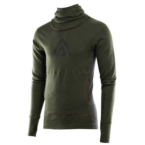 Ισοθερμικό Πουλόβερ ACLIMA WarmWool Hood Sweater Olive