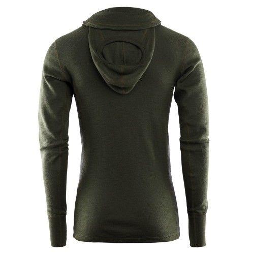 Πουλόβερ με κουκούλα ACLIMA WarmWool Hood Sweater Olive
