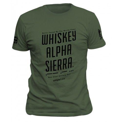 """T-Shirt Warrior Assault """"Whiskey Alpha Sierra"""""""