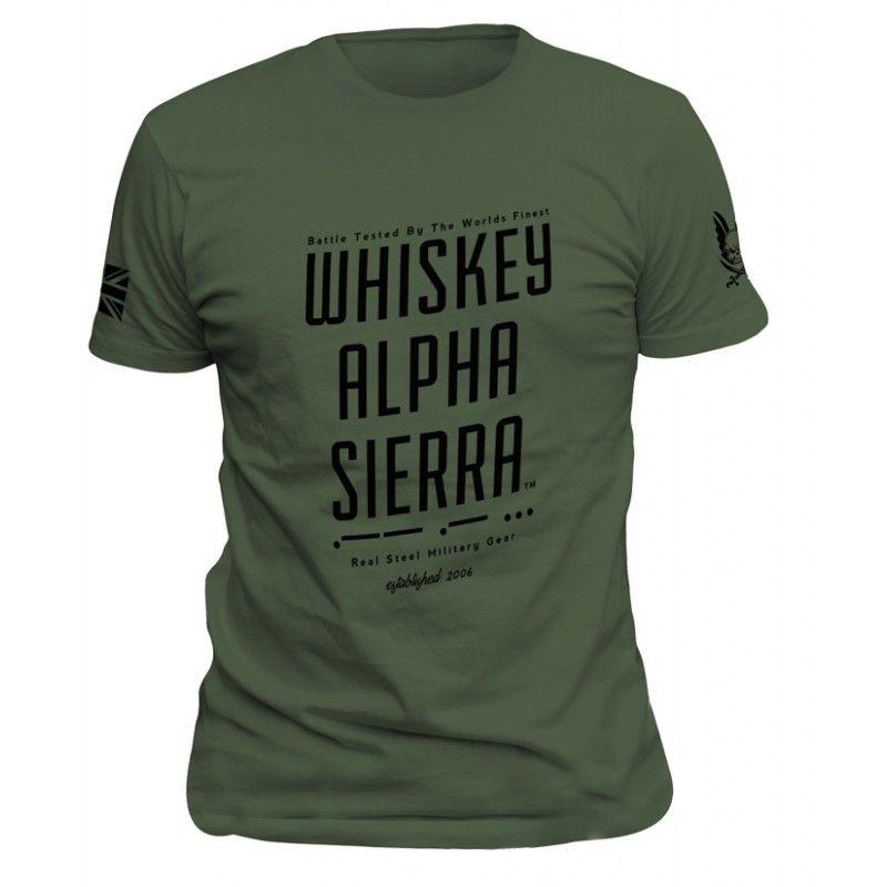 "T-Shirt ""Whiskey Alpha Sierra"""