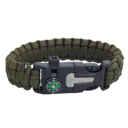 """Βραχιόλι Επιβίωσης Albainox """"Survival Paracord Bracelet"""""""