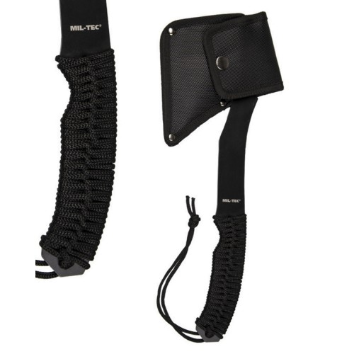 "Τσεκούρι Mil-Tec ""Black Paracord Axe with Pouch"""