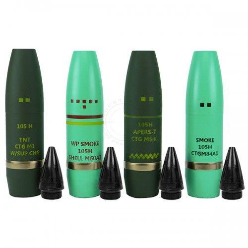 Εκπαιδευτικό κιτ βλημάτων πυροβολικού 105mm NATO Artillery Projectiles W/Fuzes-Replica