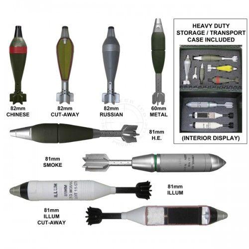 Εκπαιδευτικό κιτ βλημάτων όλμου Mortar Rounds Training Kit-Replica