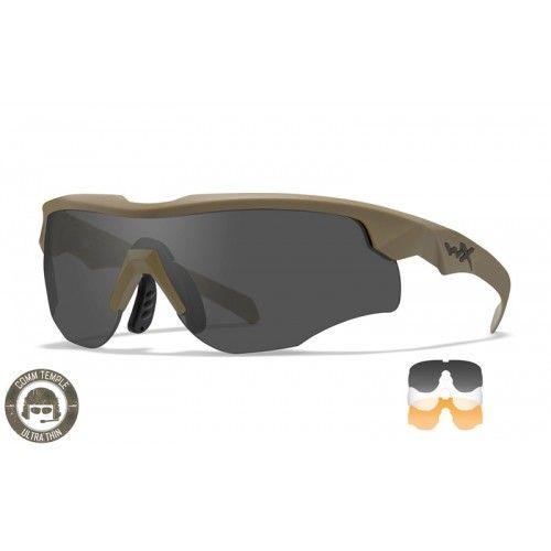 """Αντιβαλλιστικά Γυαλιά Wiley X """"Rogue Comm Grey/Clear/Rust Matte Tan Frame"""""""