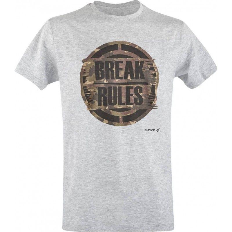 """Μπλουζάκι T-Shirt D.FIVE ORGANIC COTTON T-SHIRT """"BREAK RULES"""""""