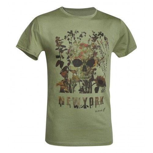 Μπλουζάκι T-Shirt D.Five Chest Skull With Flowers