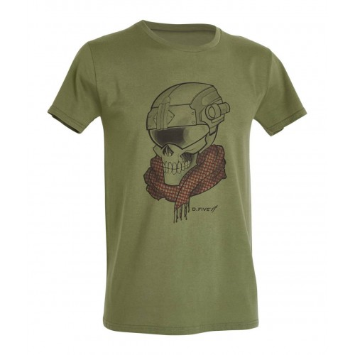 Μπλουζάκι T-Shirt D.Five Chest Skull With Helmet