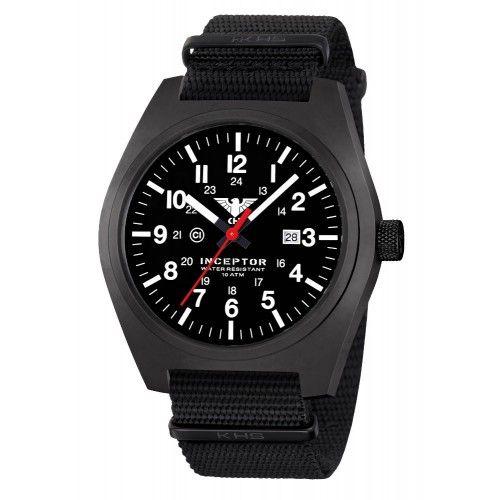 Ρολόι Tactical KHS Inceptor Black Steel Watch NATO