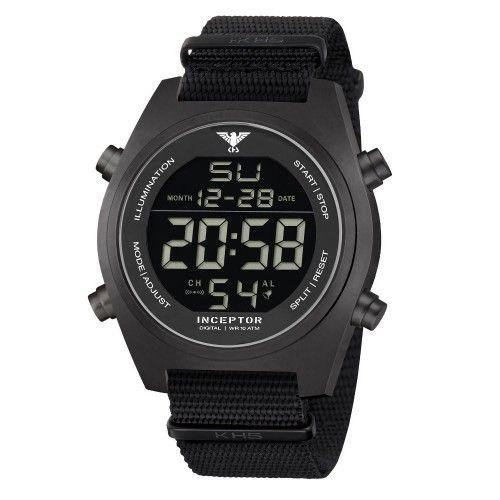 Ψηφιακό Ρολόι Tactical KHS Inceptor Black Steel Digital Watch NATO