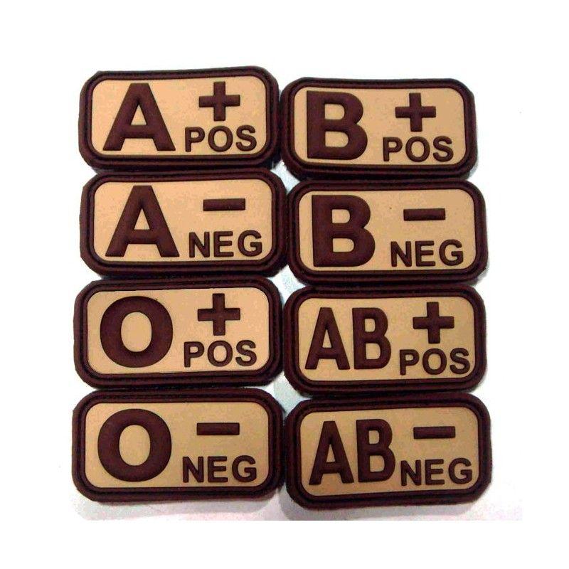 Σήμα PVC 3D Ομάδα Αίματος, Καφέ