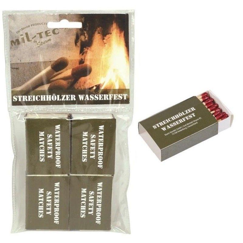 Αδιάβροχα Σπίρτα Mil-Tec Waterproof Matches 4 Pack