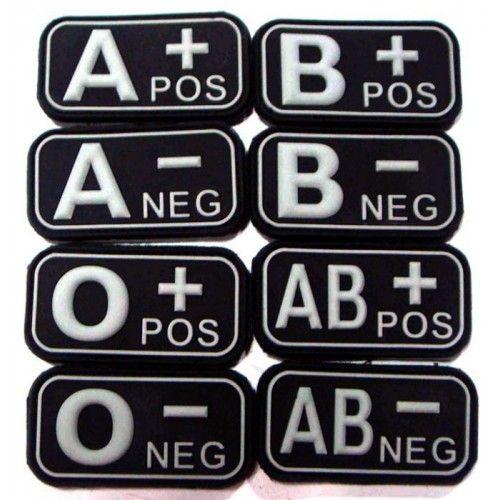 Σήμα PVC 3D Ομάδα Αίματος, Ασπρόμαυρο