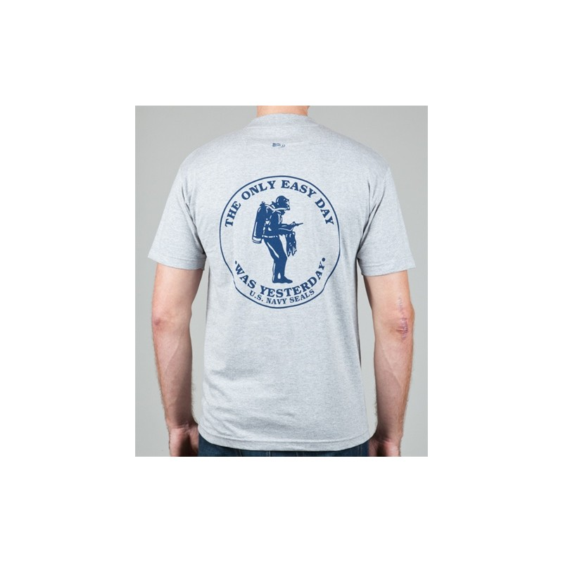 US Navy SEALs T-Shirt The Only Easy Day Was Yesterday