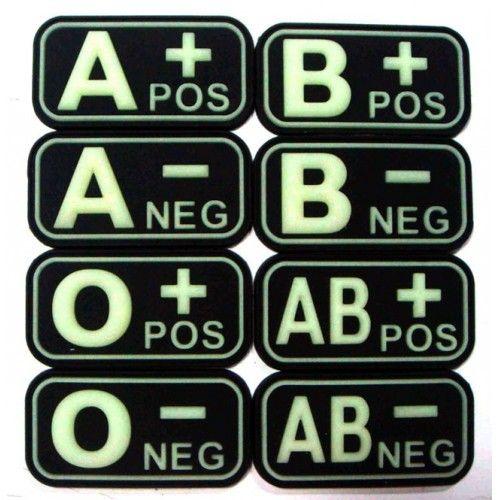 Σήμα PVC 3D Ομάδας Αίματος, Φωσφορίζων