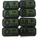 Σήμα PVC 3D Ομάδα Αίματος, Πράσινο