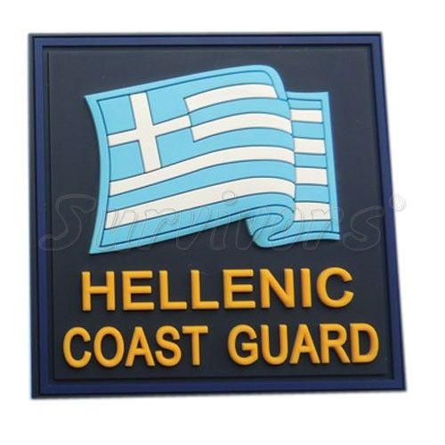 Σήμα Λιμενικού 3D - Ελληνική Σημαία Hellenic Coast Guard