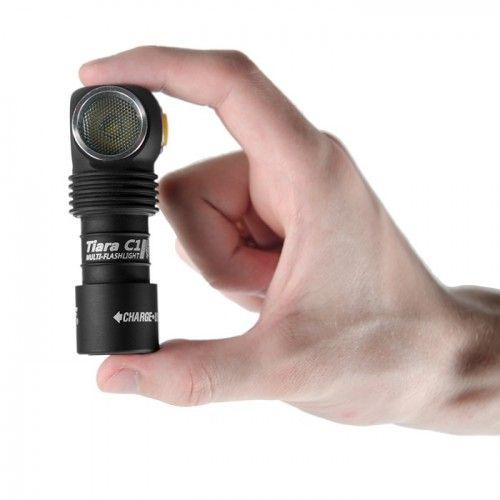 Φακός LED Armytek Tiara C1 Pro XP-L Magnet USB (White) + 18350 Li-Ion