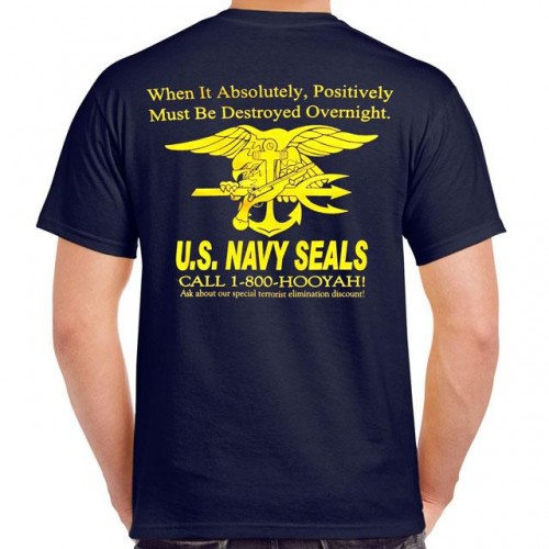 1-800-Hooyah! Navy SEAL T-Shirt