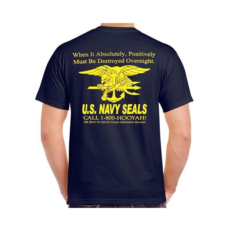 1-800-Hooyah! Navy SEAL T-Shirt