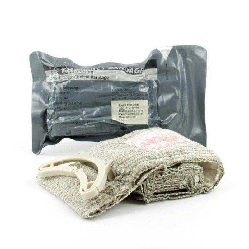 """Στρατιωτικός Αποστειρωμένος Αιμορραγικός Επίδεσμος Μάχης 10 cm """"Israeli Bandage"""" FCP01"""