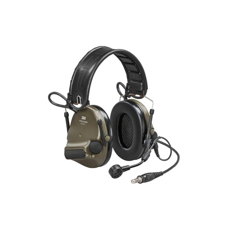 3M™ PELTOR™ ComTac XPI Headset- NATO Wired Neckband green