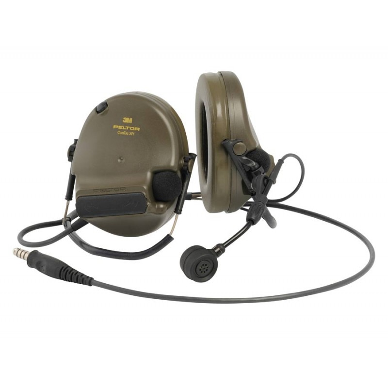 3M™ PELTOR™ ComTac XPI Headset- J11 Nexus Connection Neckband, Green