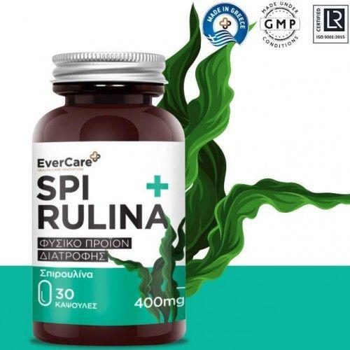 Evercare Spiroulina 400mg 30 κάψουλες