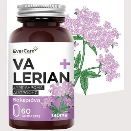 Evercare Valerian 180 mg 60 ταμπλέτες