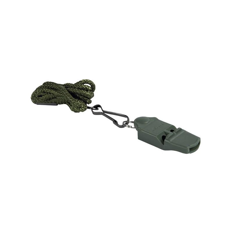 Σφυρίχτρα Ασφαλείας με Κορδόνι Χακί, MIL-TEC
