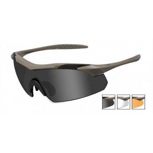 Γυαλιά ηλίου Wiley X VAPOR Grey/Clear/Light Rust Tan Frame