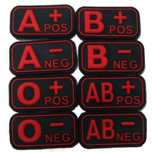 Σήμα PVC 3D Ομάδα Αίματος, Κόκκινο