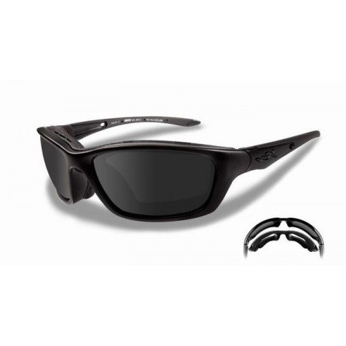 Γυαλιά ηλίου Wiley X BRICK Smoke Grey Lens, Matte Black Frame